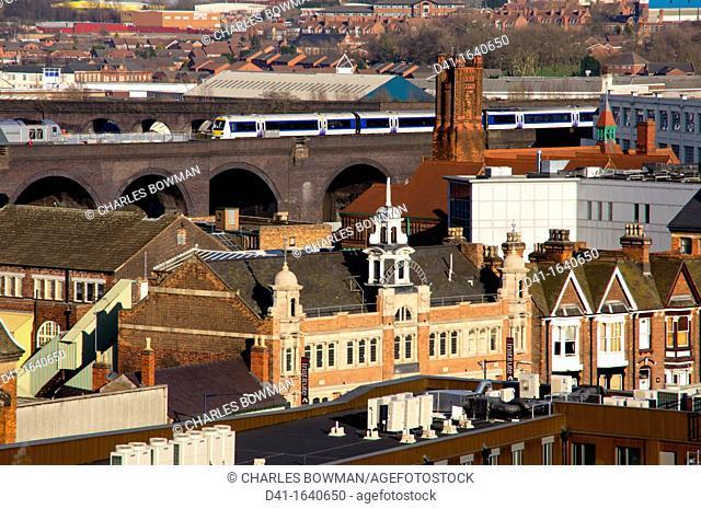 UK, england, Birmingham skyline daytime