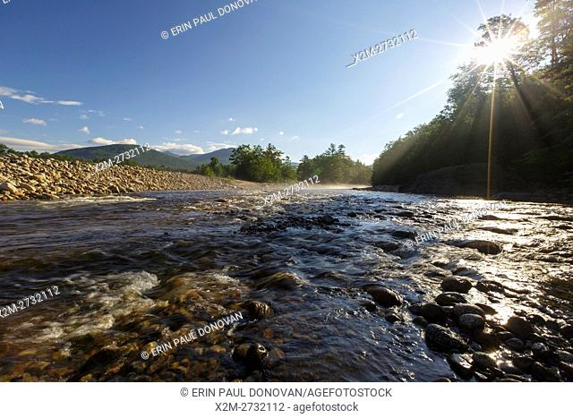 East Branch of the Pemigewasset River during the summer months in Lincoln, New Hampshire