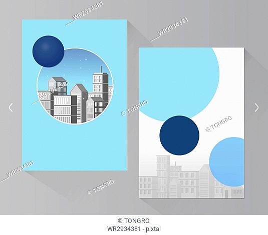 Brochure design with buildings
