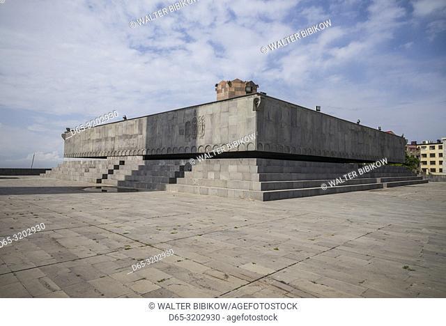 Armenia, Yerevan, Soviet-era Monument to 50 Years of Soviet Armenia, former museum, exterior