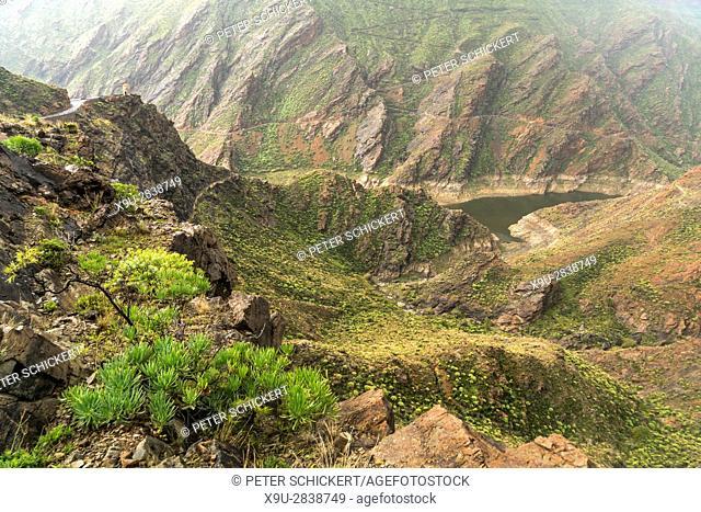 landscape at the gorge Barranco de la Aldea, Gran Canaria, Canary Islands, Spain