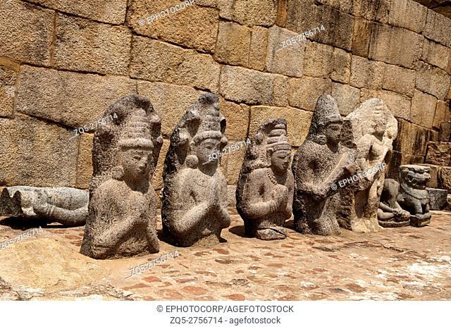 Excavated sculptures of 1oth century A. D. , Brihadisvara Temple complex, Gangaikondacholapuram, Tamil Nadu, India