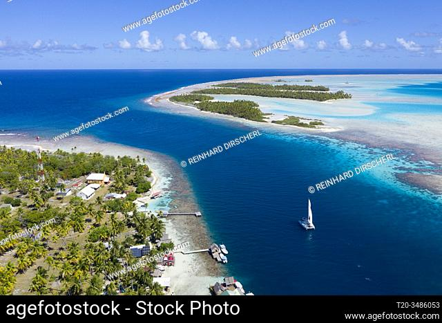 Tetamanu Pass of Fakarava Atoll, Tuamotu Archipel, French Polynesia