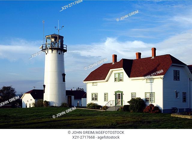 Chatham Light and Coast Guard station, Chatham, Cape Cod, Massachusetts, USA