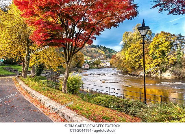 River Dee at llangollen in Denbighshire North Wales