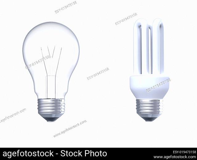 Two light bulbs