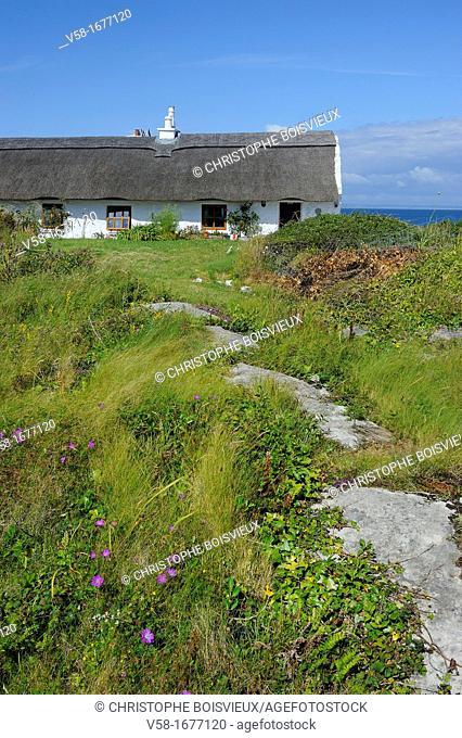 Ireland, County Galway, Aran Islands, Inishmore, Kilmurvey, The B and B, Man of Aran Cottage