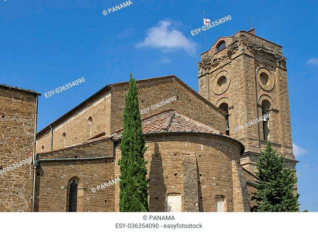 Palace of Bishops and basilica San Miniato al Monte in Florence, Italy