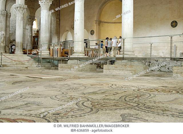 Floor mosaic, St. Hermagor Basilica, Aquileia near Grado, Udine, Italy
