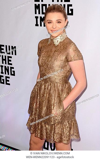 Museum Of The Moving Image Honors Julianne Moore - Red Carpet Arrivals Featuring: Chloe Grace Moretz Where: New York City, New York