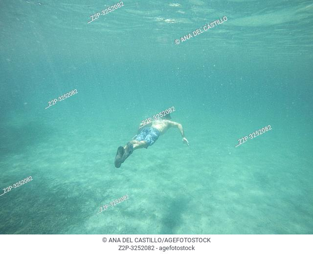 Snorkeling in Tabarca island Alicante province Spain