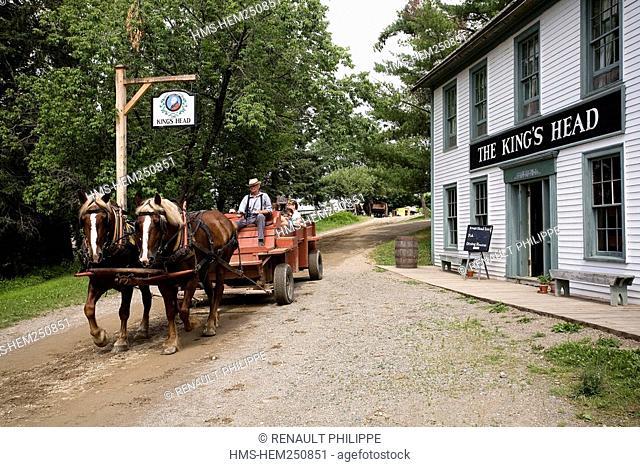 Canada, New Brunswick, Prince William, Kings Landing, living history village reenacting loyalist village from the beginning of the 19th century, Kings Head inn