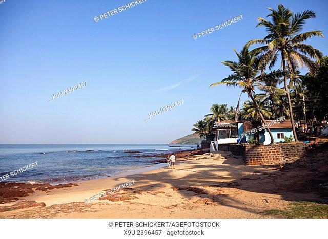 Anjuna beach, Anjuna, Goa, India, Asia