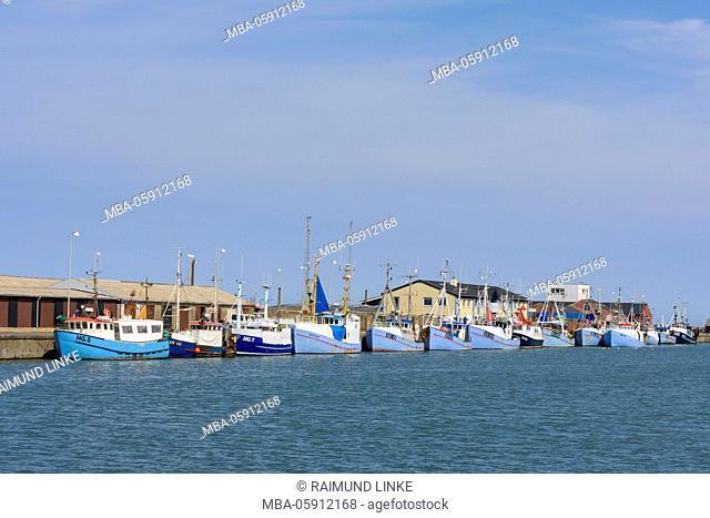 Harbor with Fishing Boats, Hirtshals, North Jutland, Denmark