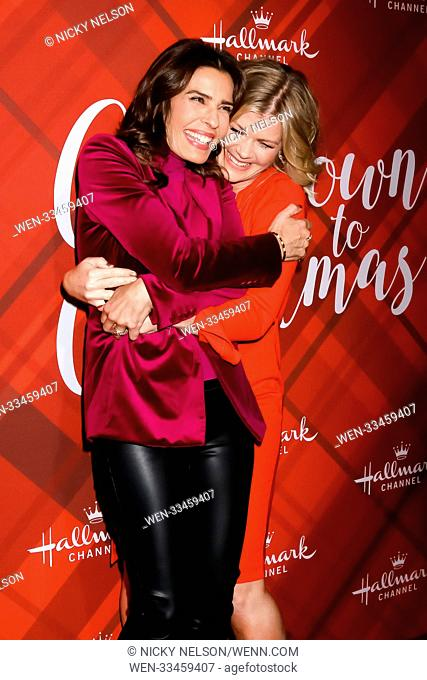 Hallmark's 'Christmas at Holly Lodge' screening at 189 The Grove Drive - Arrivals Featuring: Kristian Alfonso, Alison Sweeney Where: Los Angeles, California