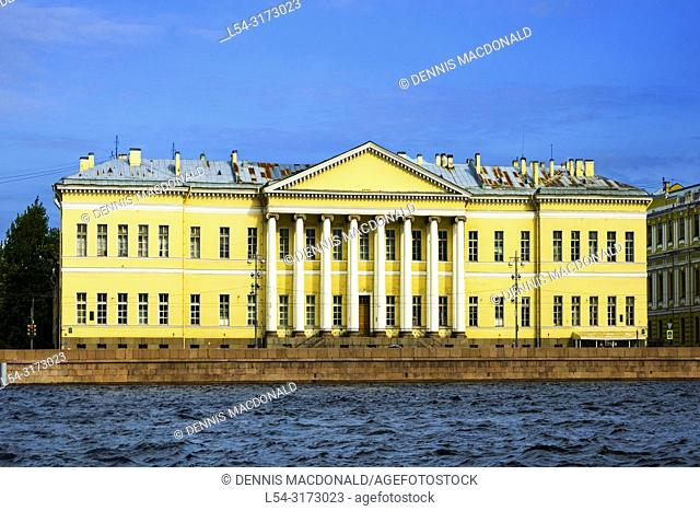 """Academy of Sciences of the Russian Federation St Saint Petersburg, Russian Sankt Peterburg, formerly (1914â. """"24) Petrograd and (1924â"""