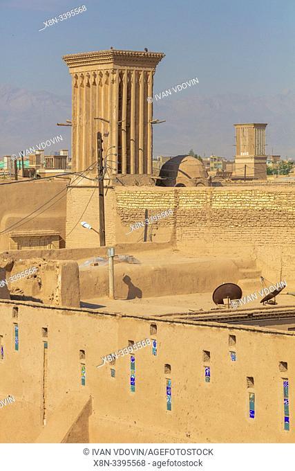 Windcatcher, windtower, badgir, Yazd, Yazd Province, Iran