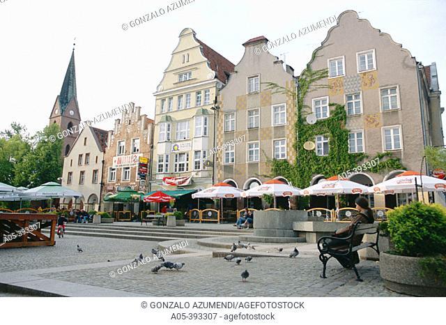 Square. Olsztyn. Poland