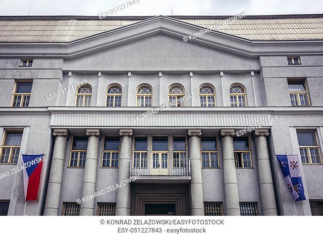 City Hall in Frydek-Mistek city in the Moravian-Silesian Region of Czech Republic