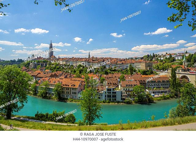 Bern, Berne, Switzerland, Europe, architecture, city, green, landscape, old town, roofs, skyline, street, touristic, travel, unesco, Aare, river