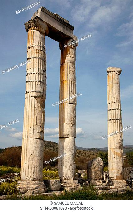 The Temple built in circa 100-30 BC, and completed in circa 27 BC – 14 AD. The Temenos around the Temple built in circa 117-138 AD