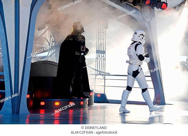 Star Wars Show at Disneyland Amusement Park in California USA