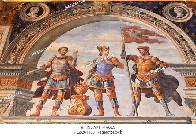 Decoration of the Sala dei Gigli, 1482-1484. Artist: Ghirlandaio, Domenico (1449?1494)