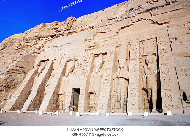 Temple of Nefertari 13th century BC, Abu Simbel, Egypt