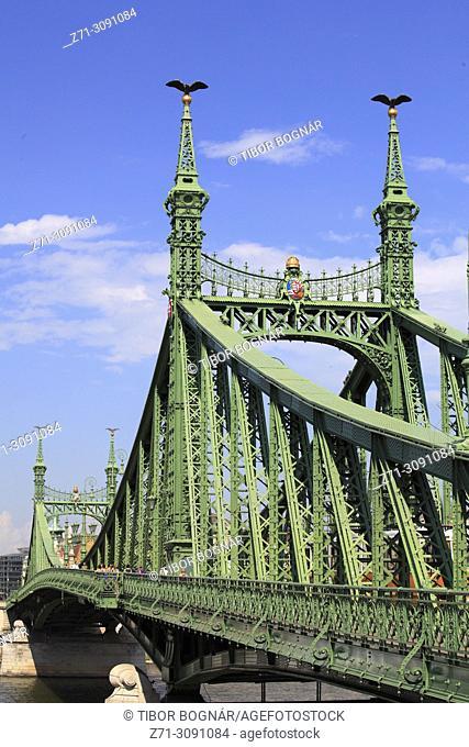 Hungary, Budapest, Freedom Bridge, Szabadság Híd,