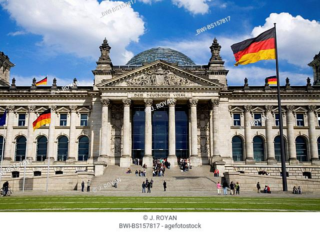 The Norman Foster redesigned German Bundestag Reichstag German national parliament, Germany, Berlin