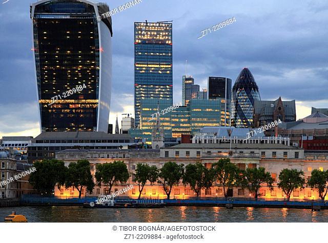 UK, England, London, City, skyline, skyscrapers,