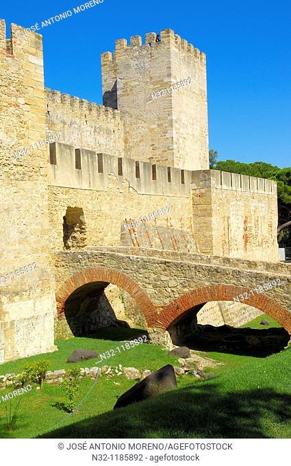 Lisbon, St  George's Castle, Castelo de Sao Jorge, Portugal  Europe