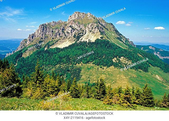 View of Velky Rozsutec from Stoh, NP Mala Fatra, Slovakia