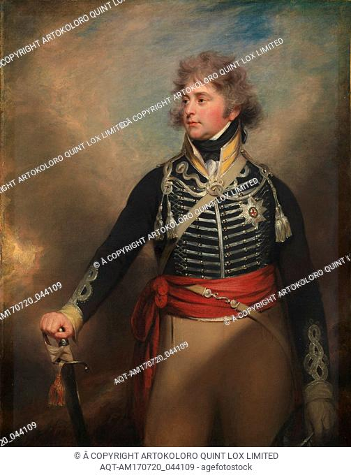 George IV (1762–1830), When Prince of Wales, Oil on canvas, 56 1/4 x 44 1/2 in. (142.9 x 113 cm), Paintings, Sir William Beechey (British, Burford