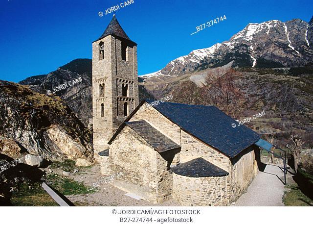Sant Joan de Boí church. Boí Valley, Pyrenees Mountains. Lleida province. Catalunya. Spain