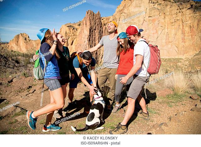 Backpackers on vacation, Smith Rock State Park, Oregon