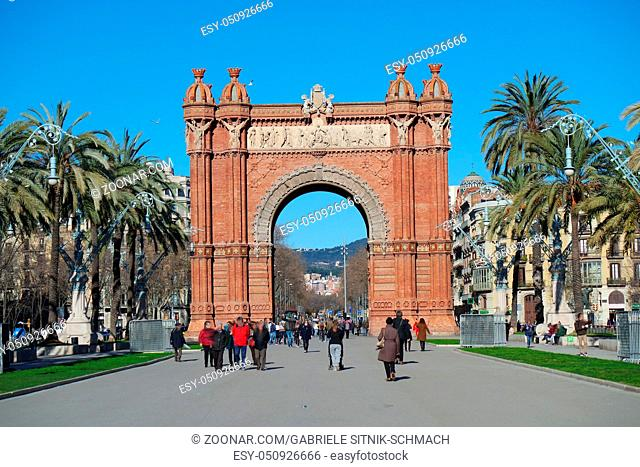 Triumphbogen in Barcelona