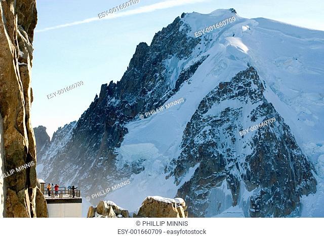 Atop Aiguille du Midi, France