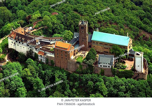 Germany - Wartburg Castle in Eisenach - A view of Wartburg Castle located above the town of Eisenach, Germany, 16 May 2003