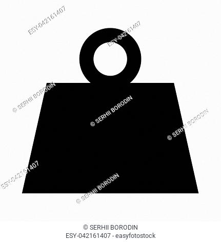 Weight it is black icon . Flat style