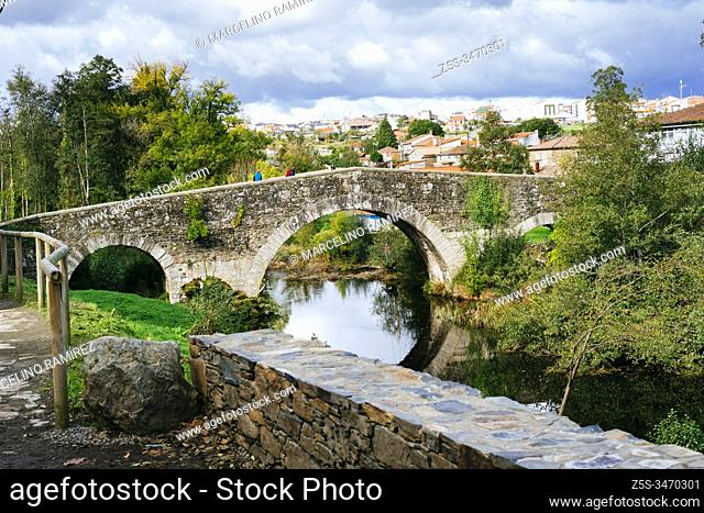 San Xoán de Furelos Bridge. Medieval bridge over the Furelos River, considered one of the jewels of the civil architecture of the Way