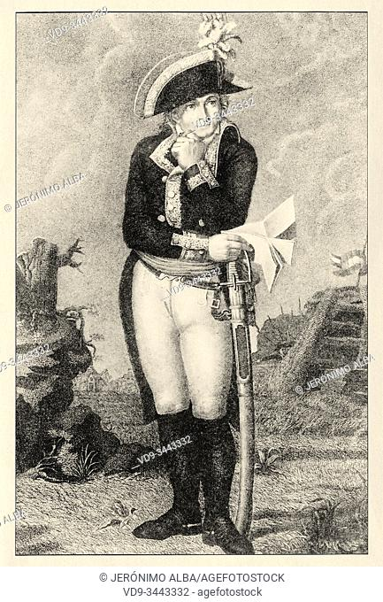 Portrait of Jean-Charles Pichegru (1761-1804). French general of the Revolutionary Wars. French Revolution 18th century. History of France