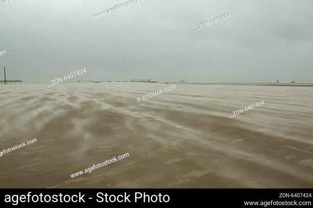 Sandsturm, Strand, Sankt Peter-Ording