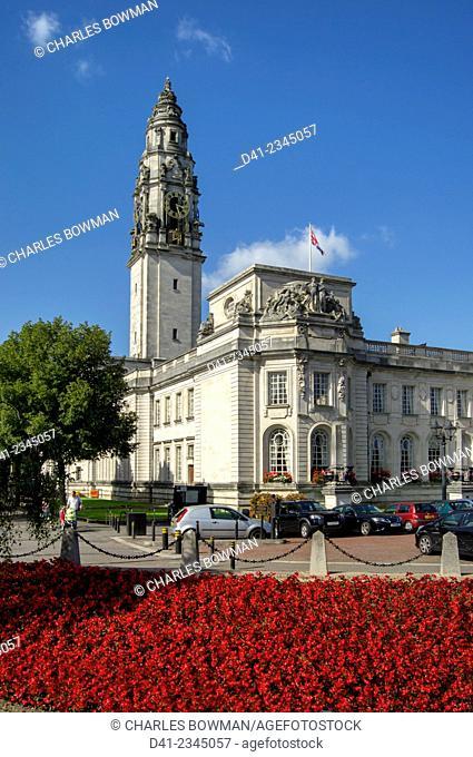 UK, Wales, Cardiff, city hall
