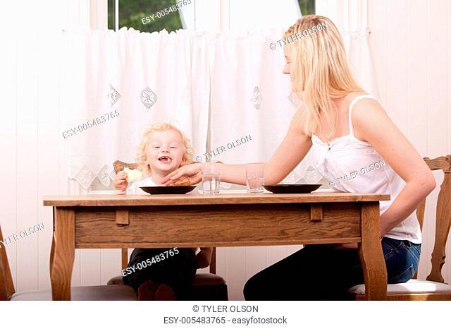 Happy Boy at Meal