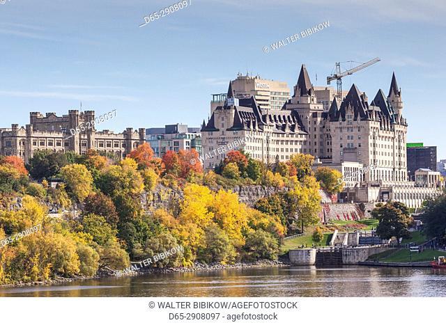 Canada, Ontario, Ottowa, capital of Canada, Chateau Laurier Hotel, autumn