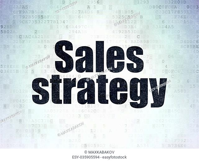 Marketing concept: Sales Strategy on Digital Data Paper background