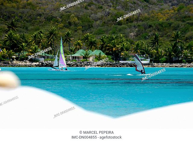 French West Indies, Guadeloupe, Saint Barthelemy, windsurf