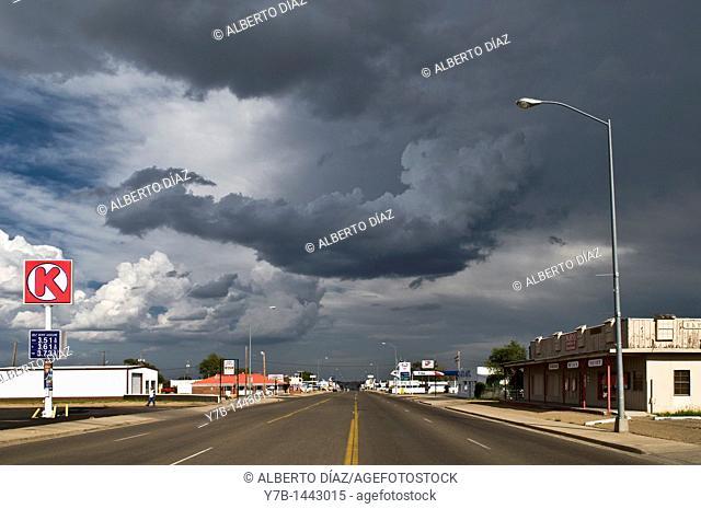 Main avenue through Tucumcari in New Mexico