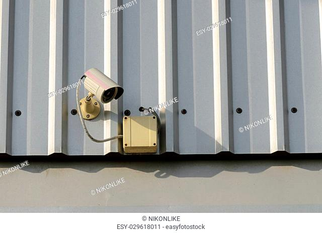 Royalty free picture CCTV security cam. Wide angle and little depth of field